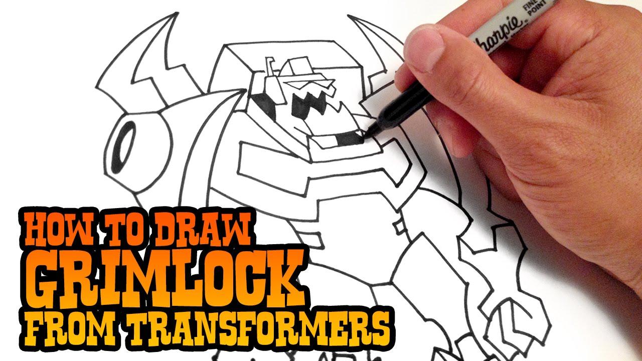 1280x720 How To Draw Grimlock Transformers