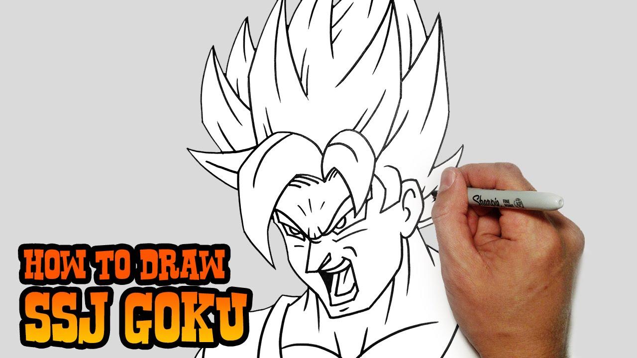 1280x720 How To Draw Ssj Goku Dragon Ball Z Video Lesson