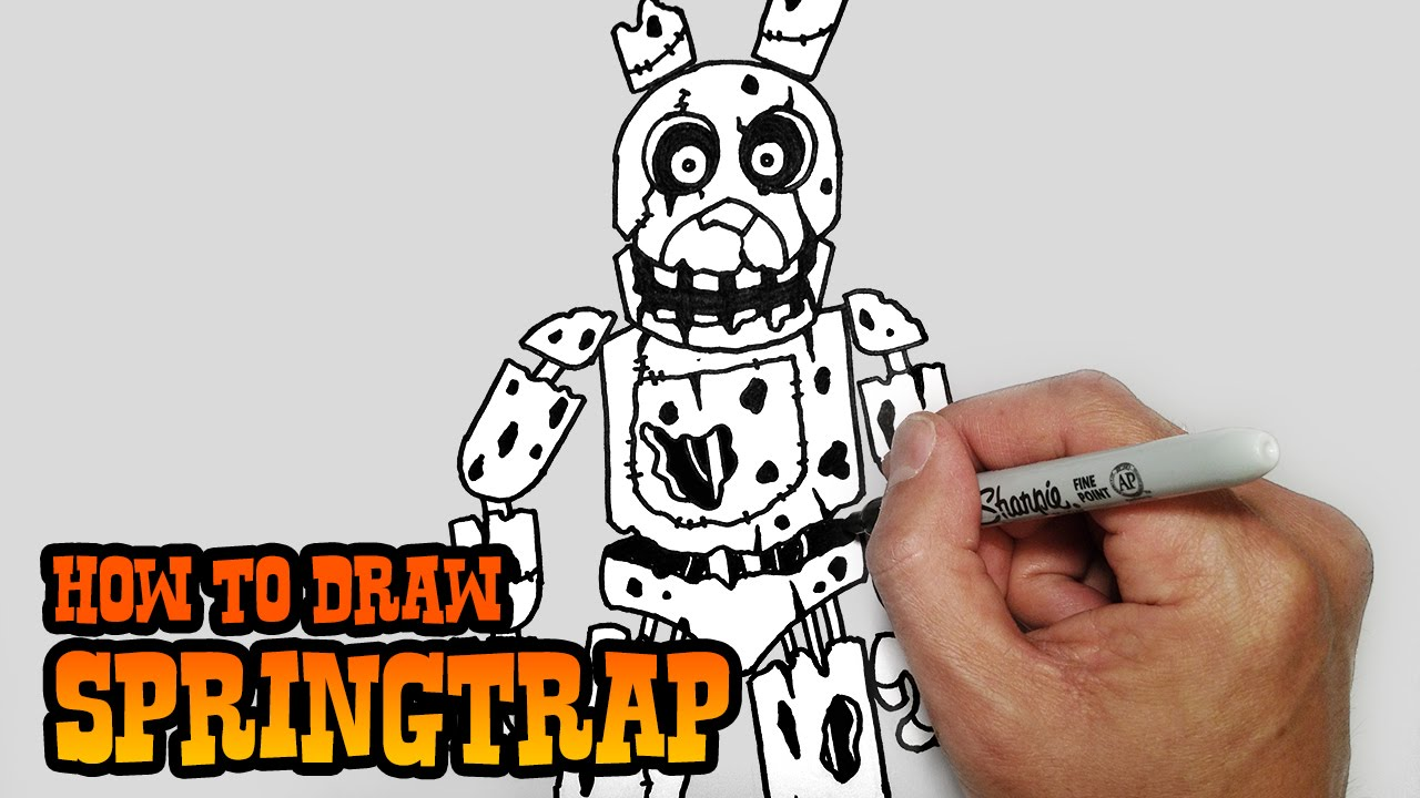 1280x720 How To Draw Springtrap Five Nights