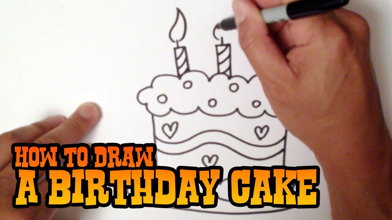 1280x720 How To Draw A Birthday Cake