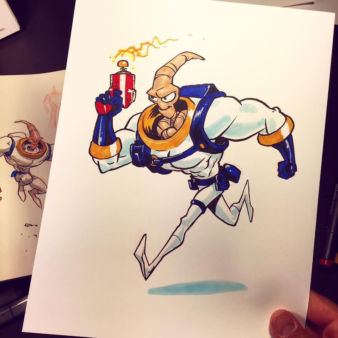 1080x1080 Earthworm Jim. Arguably The Most Creative Video Game Character