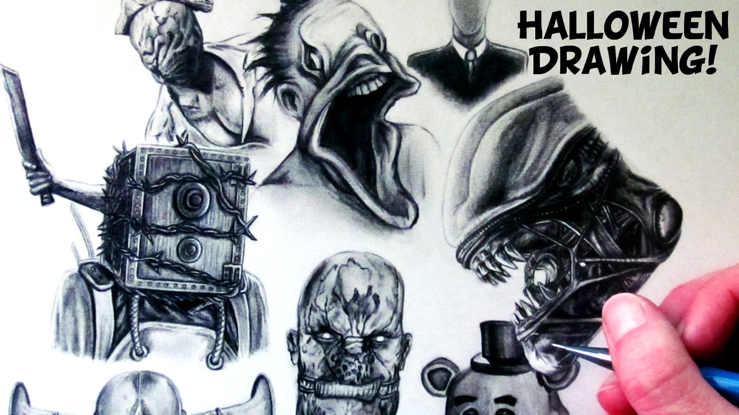 1480x832 Halloween Drawing
