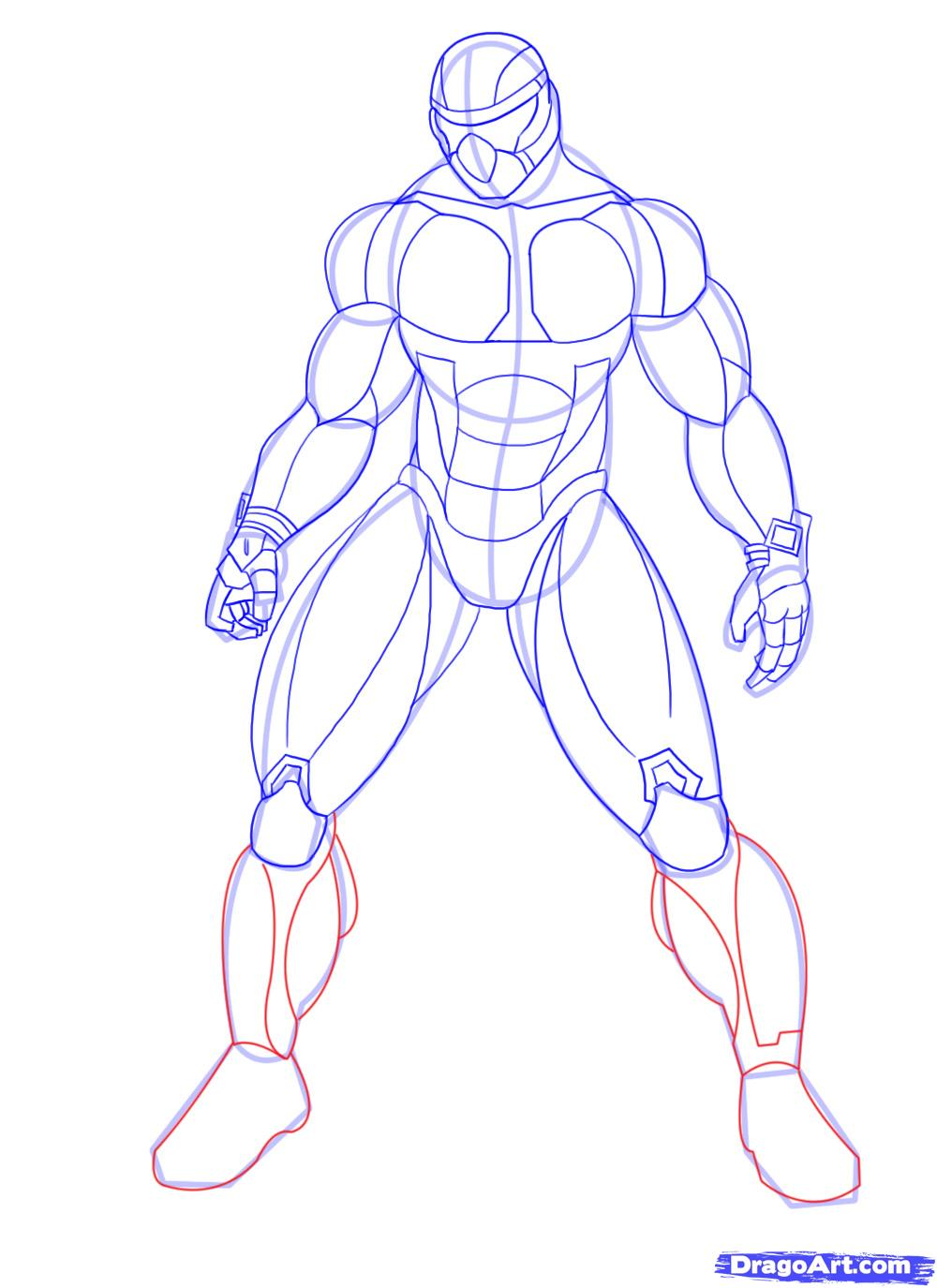 1000x1375 How To Draw Crysis, Draw Nanosuit, Step By Step, Video Game