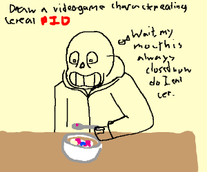 300x250 A Video Game Character Eating Cereal Pio