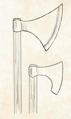 241x404 The Viking Axe And Spear W.u Hstry