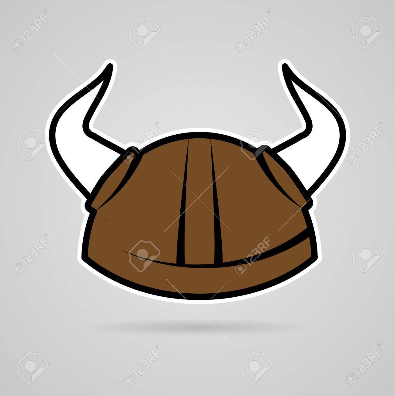 1299x1300 Clean Simple Vector Viking Helmet Sticker Royalty Free Cliparts