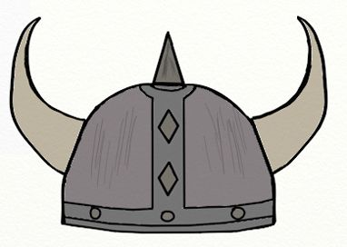 382x272 Viking Helmet Drawing