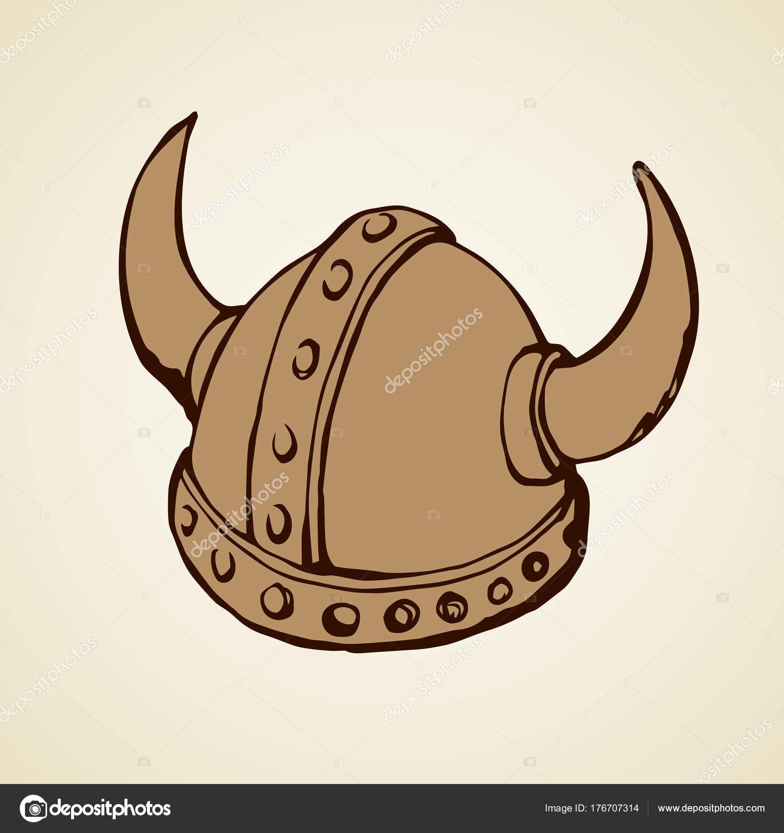 1600x1700 Viking Hat. Vector Drawing Stock Vector Marinka