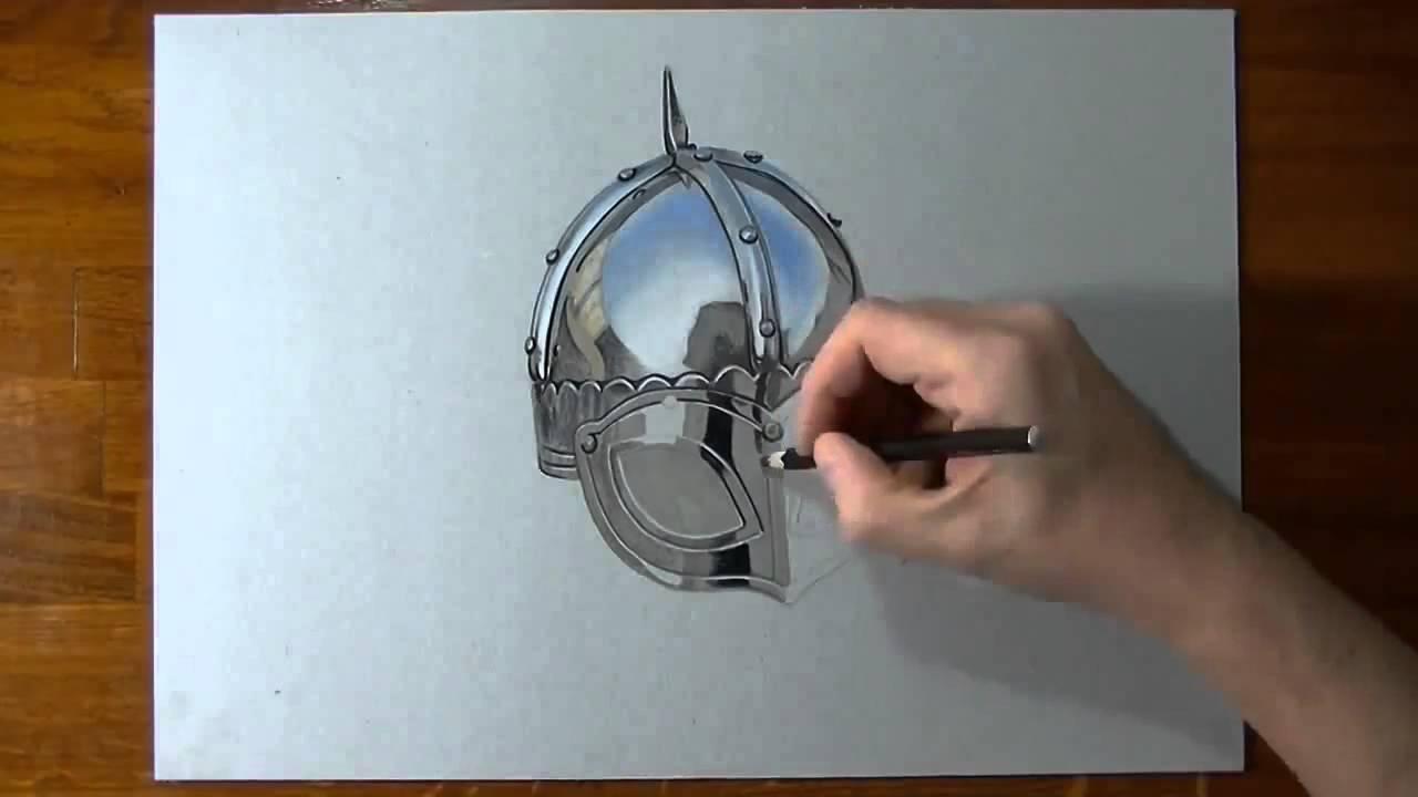 1280x720 How To Draw A Viking Helmet 3d