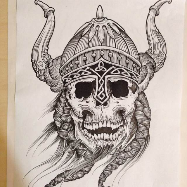 Viking Helmet Drawing at GetDrawings.com | Free for ...