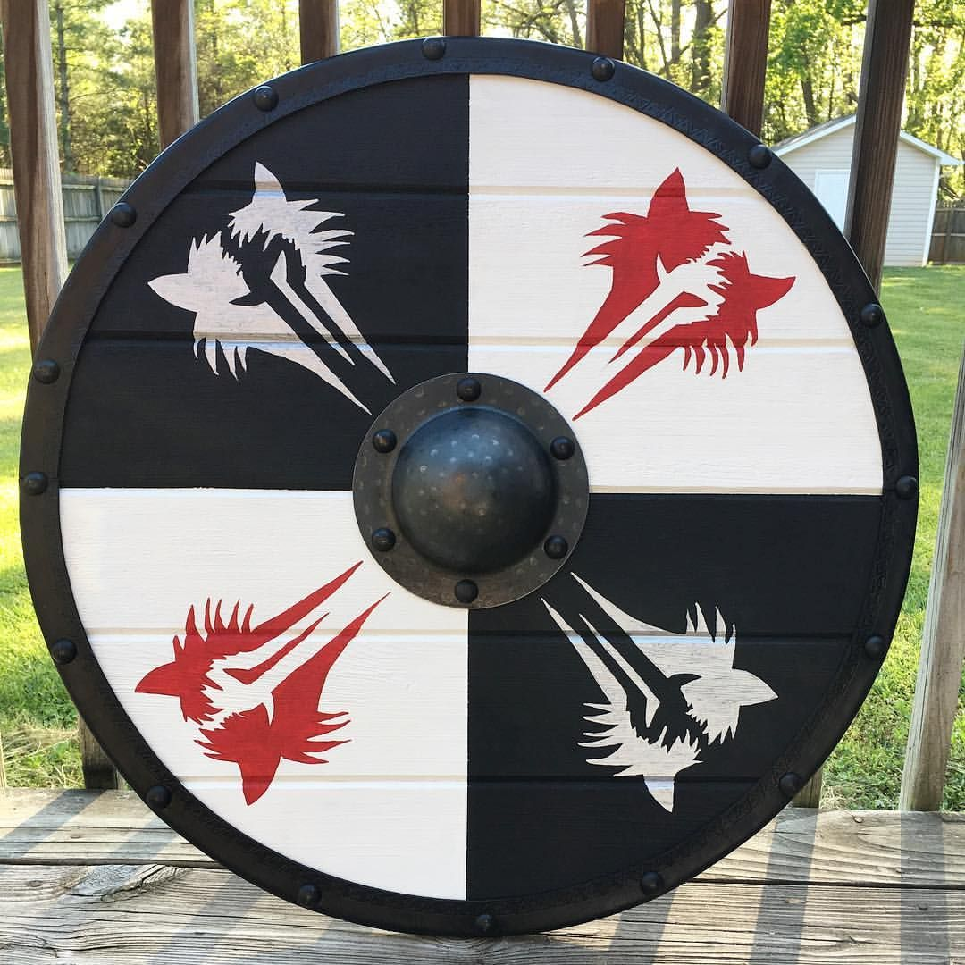 1080x1080 Custom Viking Shield With Wolf Graphics My Amazing Friends