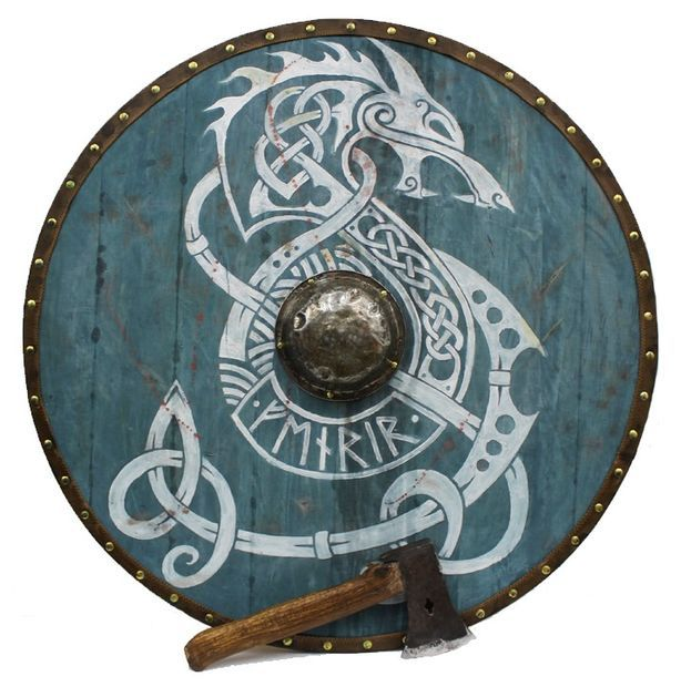 614x620 Epic Viking Shield Viking Shield, Vikings And Weapons