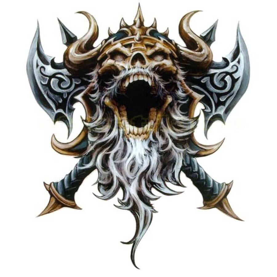 Viking skull drawing at free for for Viking tattoo designs