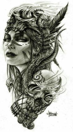 236x426 Female Viking Warrior Figure Head Drawing Inspiration
