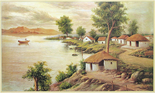 640x386 Indian villages life paintings,pictures cini clips