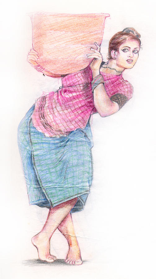 503x900 Girl Drawing By Abdul Rahim N S
