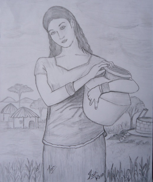 518x617 pencil sketches amp painting india women sketch