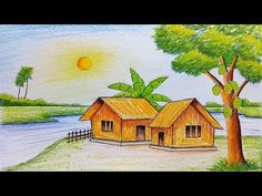 Village Scene Drawing At Getdrawings Free Download Superb early morning scenery drawing with oil pastels how to draw easy scenery 9.900.463 views1 year ago. getdrawings com