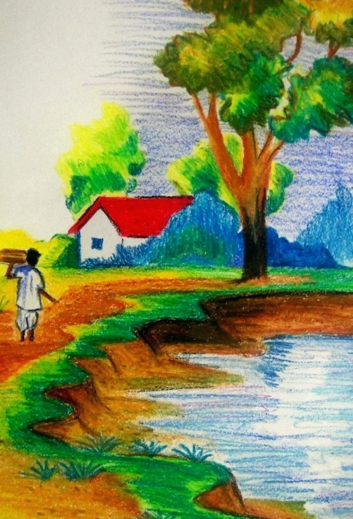 Village Scenery Drawing At Getdrawings Com Free For Personal Use