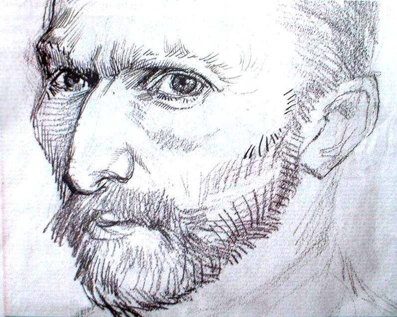796x636 Self Portrait, Vincent Van Gogh Sketches Van Gogh