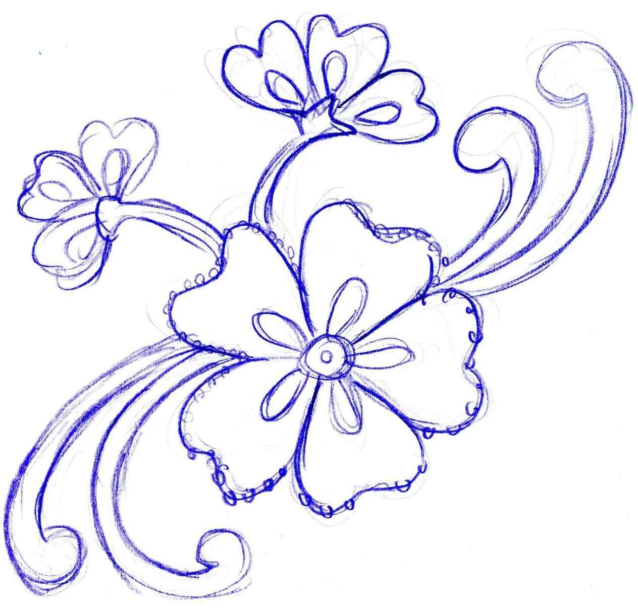 1264x1218 More About Simple Flower Designs For Pencil Drawing Update