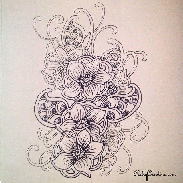 640x640 Paisley Shoulder Tattoo Designs