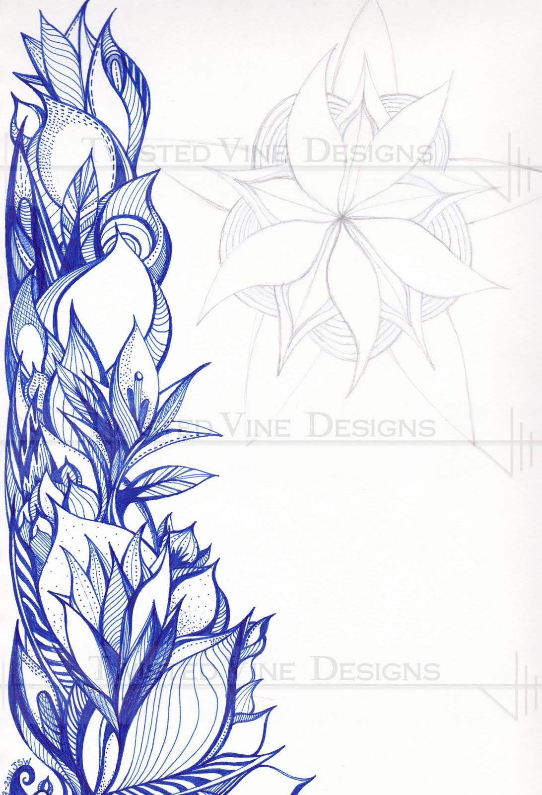1092x1600 Drawings Of Flowers And Vines Pencil