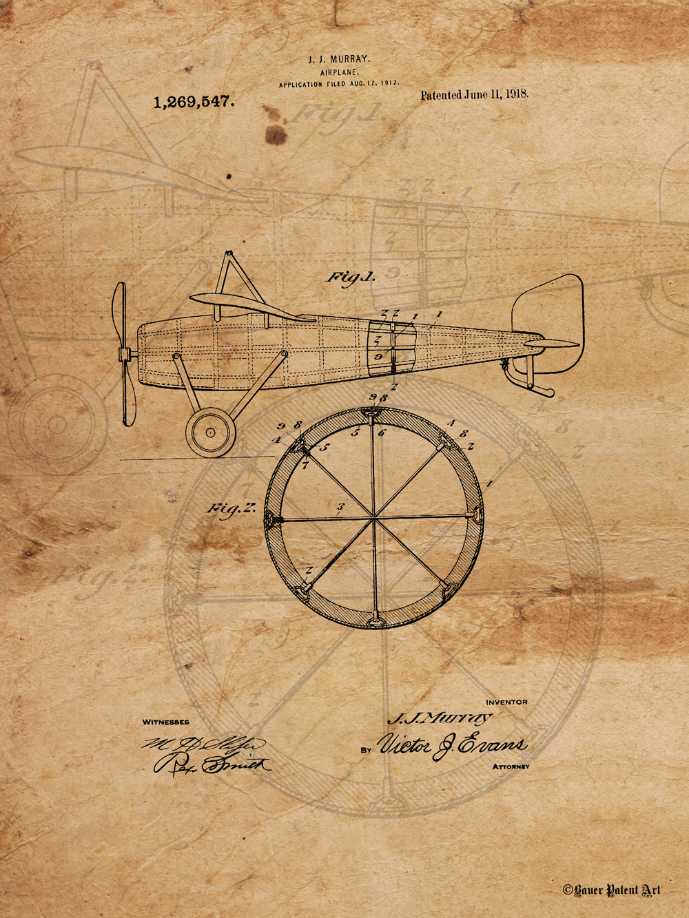 1000x1333 Patent Art Drawing Of Airplane
