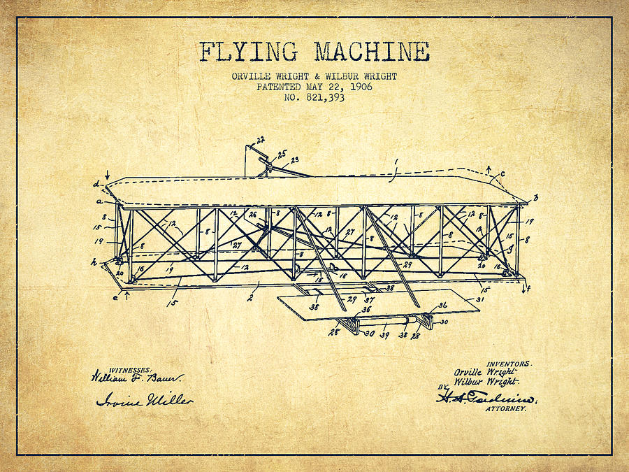 900x675 Vintage Airplane Art Fine Art America