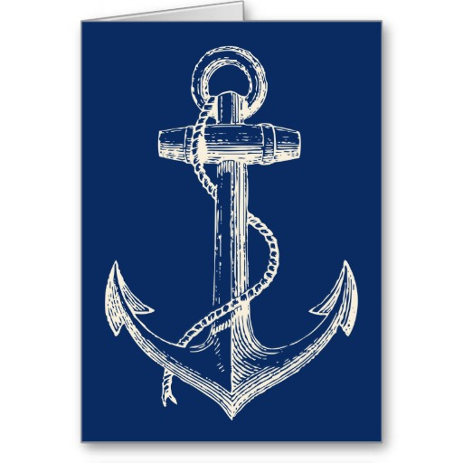 512x512 Anchor Drawings Anchor Vector Graphic Navy Blue White