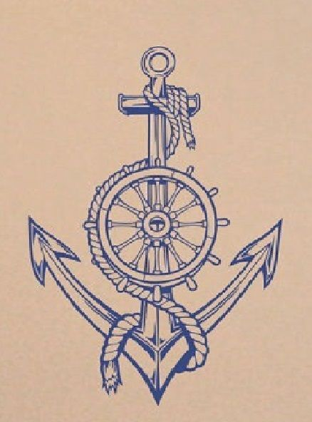 438x592 Ideas About Anchor Sketch On Vintage Anchor Tattoo