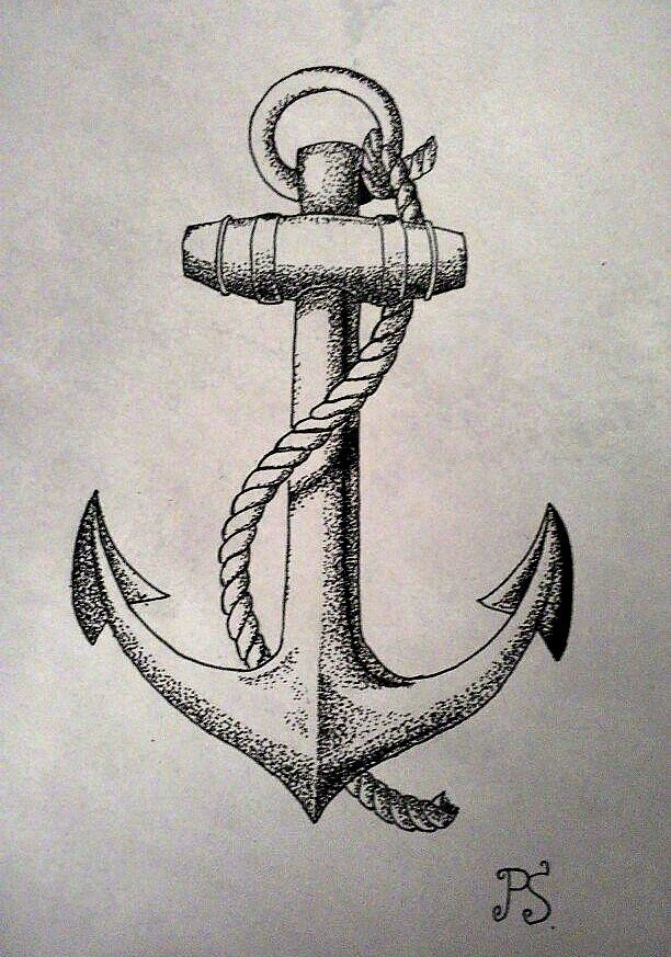612x873 On Vintage Anchor Tattoo Anchor Art And Tattoo Anchor