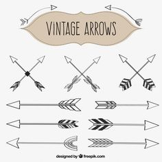 236x236 Free Vintage Vector Set Of Handdrawn Arrows Arrows!