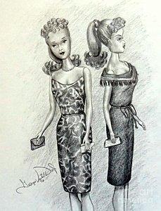 229x300 Barbie Drawings Fine Art America