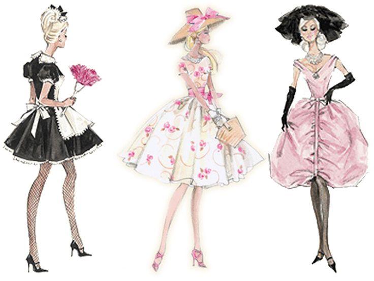 736x552 Photos Vintage Barbie Drawings,