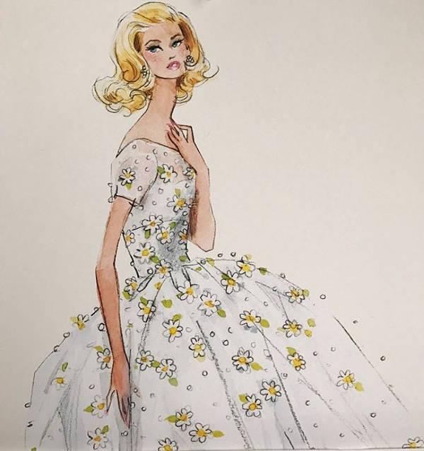 600x638 Photos Vintage Barbie Sketch,