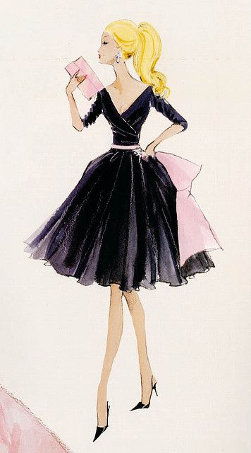 356x640 Vintage Drawing Come On Barbie Let's Go Party