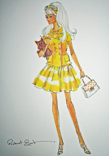454x648 Vintage Barbie Sketches