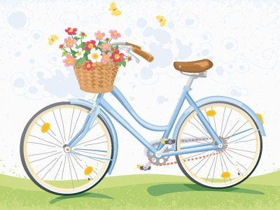 400x300 Vintage Bicycle With Flower Basket Vintage Bicycles And Flower