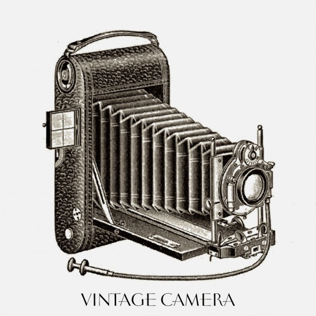 626x626 Nice Drawing Of A Vintage Camera Vector Free Download