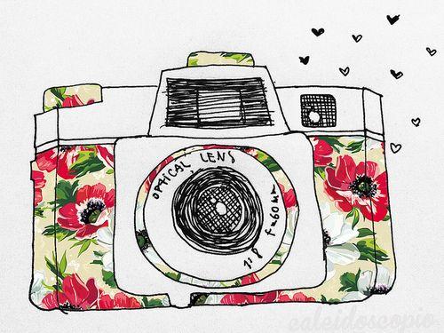500x375 Vintage Camera Drawing Art Camera Drawing, Doodles