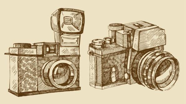 597x335 Vintage Camera Vector Free Vector Download (7,098 Free Vector)