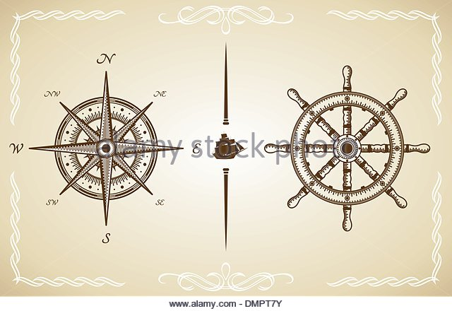 640x440 Old Compass Drawing Stock Photos Amp