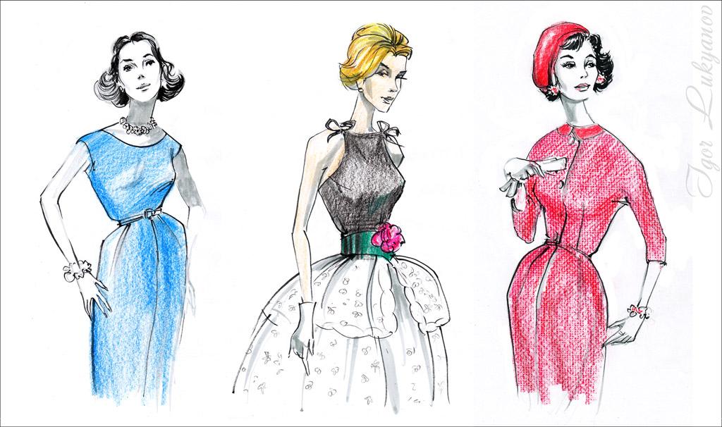 1024x606 Imitating The Style Of Vintage Fashion Magazines Illustrations