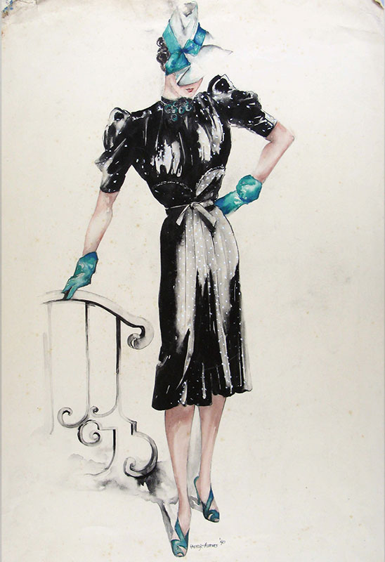 548x800 Vintage Fashion Drawings From The Late 1930s Europeana Blog