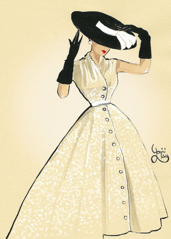 570x796 Vintage Fashion Illustration Be Inspirational Manerz