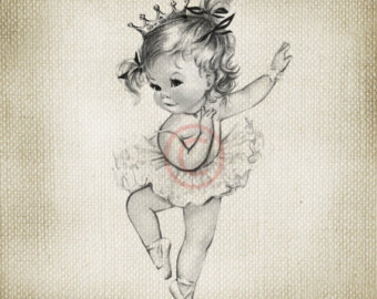 340x270 Adorable Vintage Baby Girl In Bubble Bath Large Digital