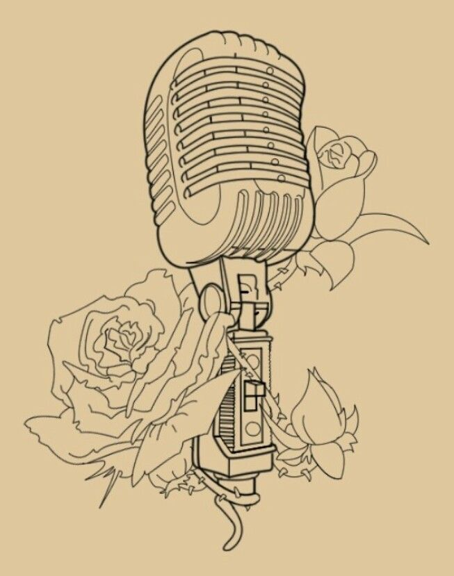 Vintage Microphone Drawing at GetDrawings.com | Free for personal ...