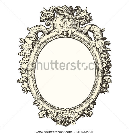450x470 Old Mirror Drawing Hand Mirror Drawing Craft Room Ideas