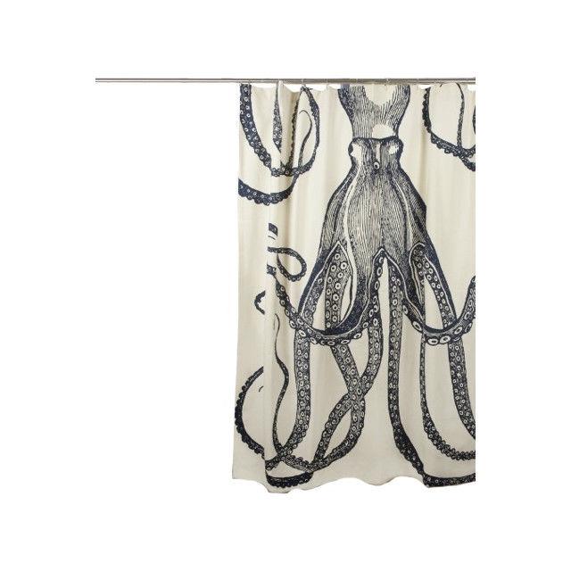 640x640 Medium Weight 100% Cotton Silk Screen Vintage Octopus Shower